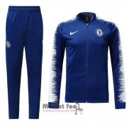 Ensemble Survetement Chelsea Enfant 2018-2019 Bleu