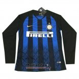 Maillot Inter Milan Domicile Manches Longues 2018-2019