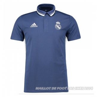 Maillot Polo Real Madrid 2017 Bleu y Blanc