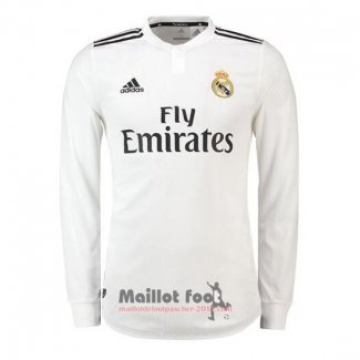 Maillot Real Madrid Domicile Manches Longues 2018-2019