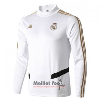 Sweat Real Madrid 2019-2020 Blanc