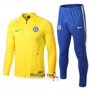 Ensemble Survetement Chelsea 2018-2019 Jaune