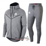 Ensemble Survetement a capuche Manchester City 2018-2019 Gris