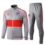 Ensemble Survetement Atletico Madrid 2019-2020 Rouge Y Gris