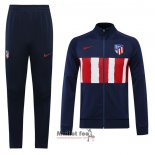 Ensemble Survetement Veste Atletico Madrid 2020-2021 Bleu