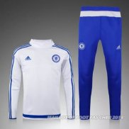 Ensemble Survetement Chelsea 2015/2016 Blanc