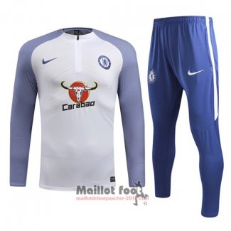 Ensemble Survetement Chelsea Enfant 2018-2019 Blanc