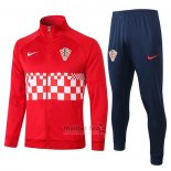 Ensemble Survetement Veste Croatie 2020-2021 Rouge