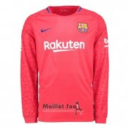 Maillot FC Barcelone Gardien Manches Longues 2017-2018 Rouge