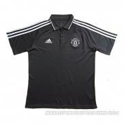Maillot Polo Manchester United 2017 Noir y Blanc