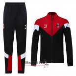 Ensemble Survetement Milan AC 2020-2021 Noir Y Rouge
