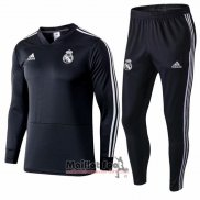 Ensemble Survetement Real Madrid Enfant 2018-2019 Gris