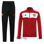 Ensemble Survetement Veste Manchester United Retro 2020-2021 Rouge