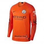Maillot Manchester City Gardien Manches Longues 2018-2019 Orange