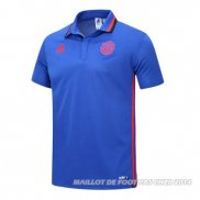 Maillot Polo Manchester United 2017 Bleu y Rouge