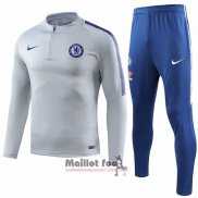 Ensemble Survetement Chelsea Enfant 2018-2019 Gris