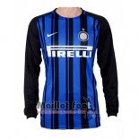 Maillot Inter Milan Domicile Manches Longues 2017-2018
