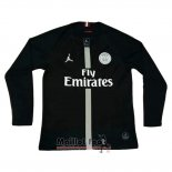 Maillot Paris Saint-Germain Third Manches Longues 2018-2019 Noir