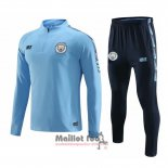Ensemble Survetement Manchester City 2019-2020 Bleu Claro