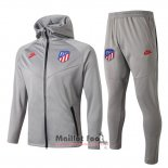 Ensemble Survetement a capuche Atletico Madrid 2019-2020 Gris