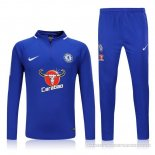 Sweat Chelsea 2017/2018 Bleu2