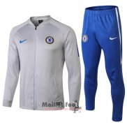 Ensemble Survetement Chelsea 2018-2019 Bleu