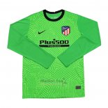 Maillot Atletico Madrid Gardien Manches Longues 2020-2021 Vert