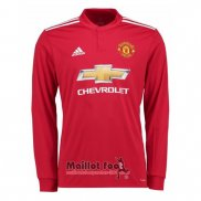 Maillot Manchester United Domicile Manches Longues 2017-2018
