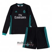 Maillot Real Madrid Exterieur Enfant Manches Longues 2017-2018