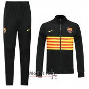 Ensemble Survetement FC Barcelone 2019-2020 Jaune Y Noir
