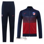 Ensemble Survetement Veste Atletico Madrid 2020-2021 Bleu Y Rouge