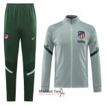 Ensemble Survetement Veste Atletico Madrid 2020-2021 Gris