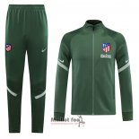 Ensemble Survetement Veste Atletico Madrid 2020-2021 Vert