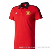 Maillot Polo del Manchester United 2017/2018 Rouge