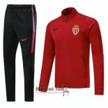 Ensemble Survetement Monaco 2018-2019 Rouge